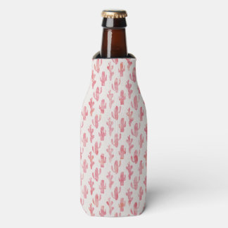 Pink Cactus Bottle Coozy Bottle Cooler