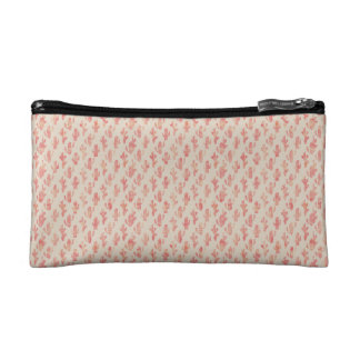 Pink Cactus Cosmetic Bag (Small)