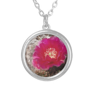 Pink Cactus Flower Pendant