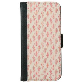 Pink Cactus Iphone 6/6s Wallet Phone Case