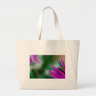 Pink Cactus Petals Large Tote Bag