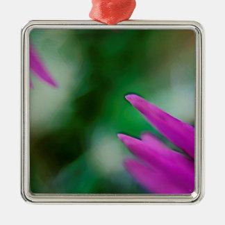 Pink Cactus Petals Metal Ornament