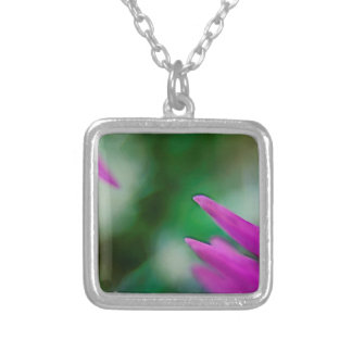 Pink Cactus Petals Silver Plated Necklace