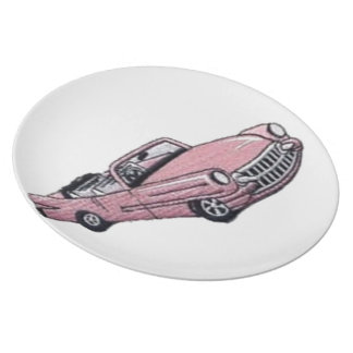 Pink Cadillac Dinner Plates