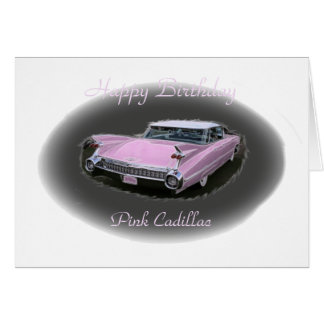 Pink Cadillac Flash Card