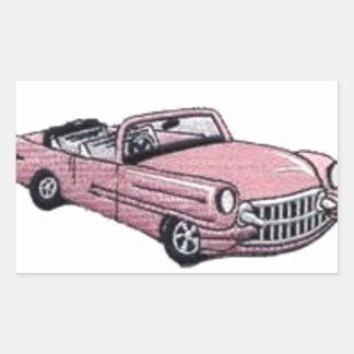 Pink Cadillac Rectangular Sticker