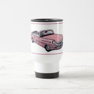 Pink Cadillac Travel Mug