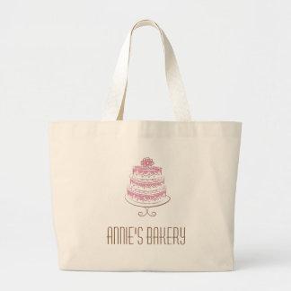 Pink Cake Art Custom Gifts Logo Bag Tote