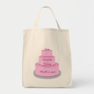 Pink Cake Hearts Personalized Bride Bags