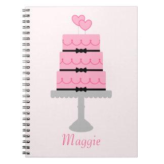 Pink Cake Spiral Notebook