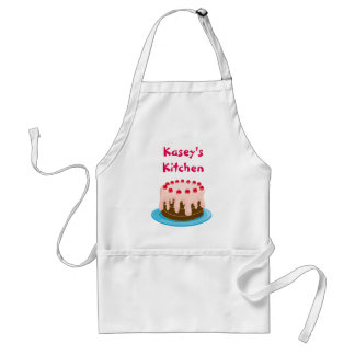 Pink Cake with Cherries Custom Standard Apron