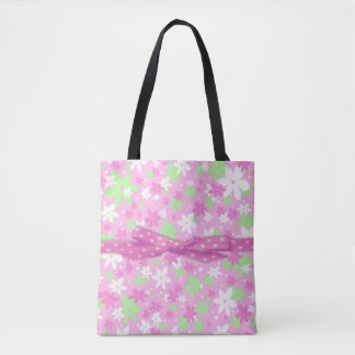 Pink Calico Tote Bag