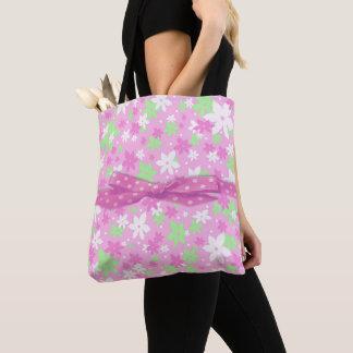 Pink Calico Tote Bag