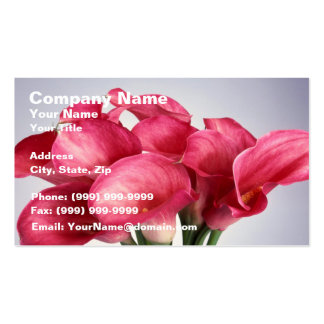 Pink Calla Lilies Business Card Template