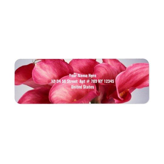 Pink Calla Lilies Return Address Label