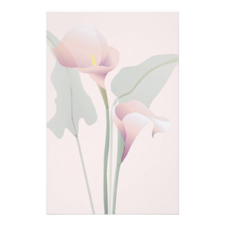 Pink Calla Lily Floral Stationery