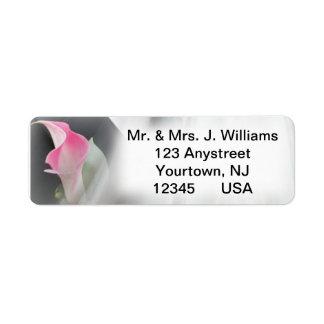 Pink Calla Lily Flourish Frame Address Label