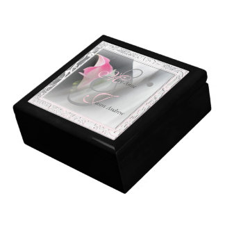 Pink Calla Lily Flourish Frame Wedding Gift Box