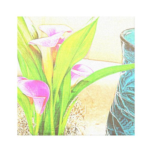 Pink Calla Lily Flowers Canvas Canvas Print