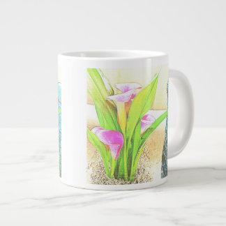 Pink Calla Lily Flowers Jumbo Mug