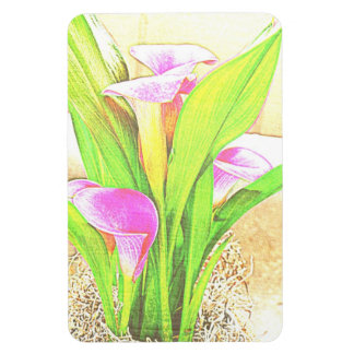 Pink Calla Lily Flowers Magnet