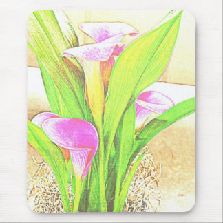 Pink Calla Lily Flowers Mousepad