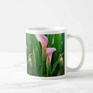 Pink calla lily  flowers mug