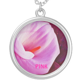 Pink Calla Lily Personalized Necklace
