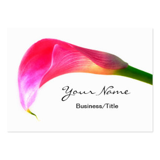 Pink Calla Lily on White Pack Of Chubby Business Cards