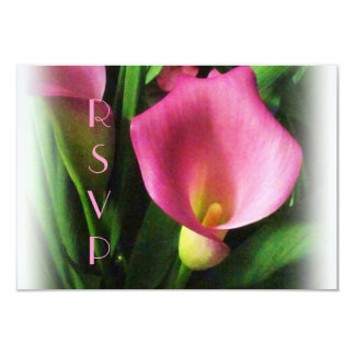 Pink Calla Lily RSVP Card 9 Cm X 13 Cm Invitation Card
