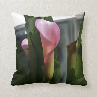 Pink Calla Lily (single side printed) Throw Pillow