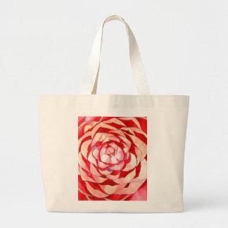 Pink Camellia abstract original art painting Jumbo Tote Bag
