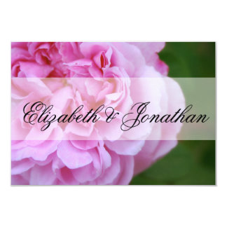 Pink Camellia and Ribbon Save the Date 9 Cm X 13 Cm Invitation Card