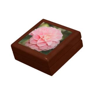 Pink Camellia Blossom Small Square Gift Box