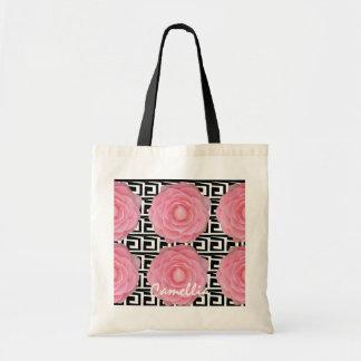 Pink Camellia Budget Totebag Tote Bags