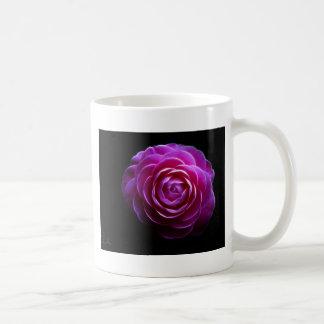 pink camellia design mug