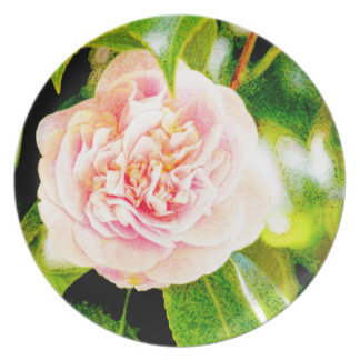 "Pink Camellia Dream 10"" Plate"