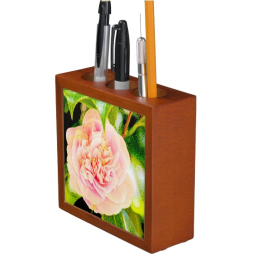 Pink Camellia Dream  Desk Organizer