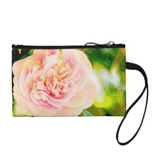 Pink Camellia Dream Key Coin Clutch Change Purses