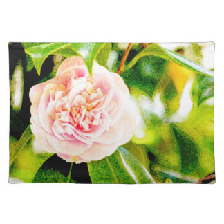 Pink Camellia Dream Placemats 20x14