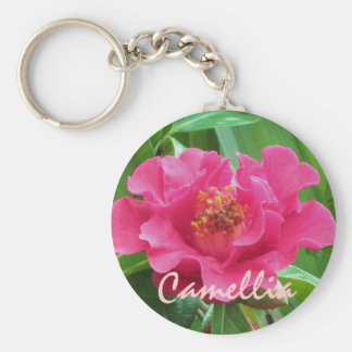 Pink Camellia Keychain