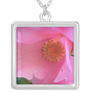 Pink Camellia Necklace