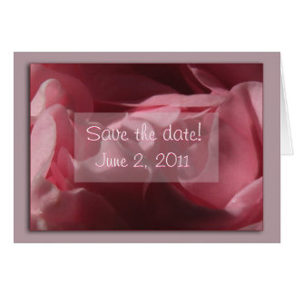 "Pink Camellia""Save the Date"" Card"