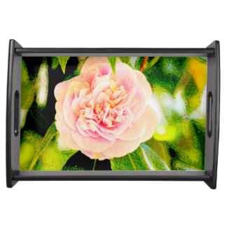 Pink Camellia Serving Tray
