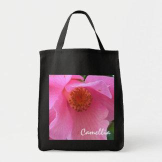Pink Camellia Totebag Canvas Bag