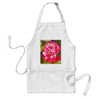 Pink Camellia watercolor flower art painting Standard Apron