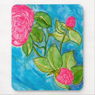 Pink Camellias Mouse Pad