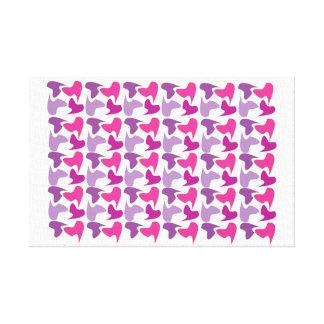 Pink Cammo Pattern Canvas Print