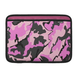 "Pink Camo, 11"" Horizontal Sleeve For MacBook Air"