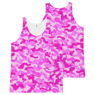 Pink Camo All-Over Print Singlet